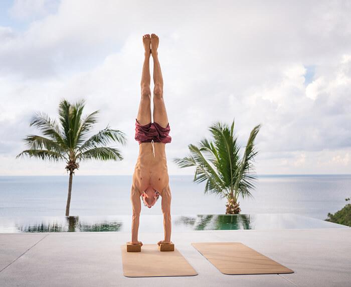 doing handstand with handstand blocks